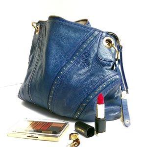 Cole Haan Leather Hobo Purse Shoulder Bag Studded